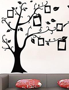 miljømæssige aftagelig træ fotoramme pvc væg sticker