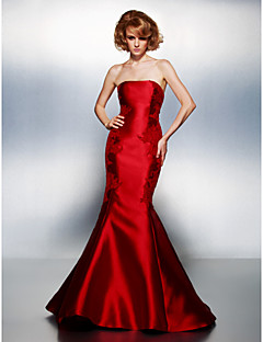 TS Couture® Prom / Formal Evening Dress - Ruby Plus Sizes / Petite Trumpet/Mermaid Strapless Court Train Satin