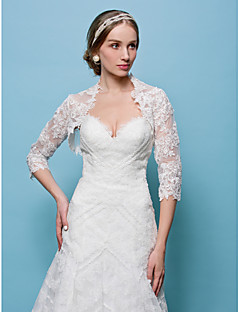 Wedding  Wraps Boleros Lace White/Beige