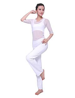 Mulheres Ioga Ternos Manga Comprida Branco Ioga M / L / XL
