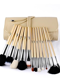 MSQ® 13pcs Makeup Brushes set Goat/Wool hair Hypoallergenic/Limits bacteria Beige Blush brush Shadow/Eyeliner/Lip/Brow Brush Cosmetic Brushes kit