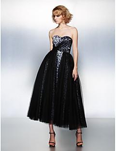 homecoming prom / vestido de noche formal - bola negro novia vestido hasta los tobillos tul