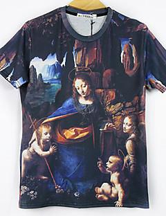 Lugus Herrenmode 54d Blumendruck Kurzarm-T-Shirt