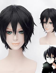 30cm Short Black Party Wigs Sekai-ichi Hatsukoi Takano Masamune Cosplay Hair Wigs