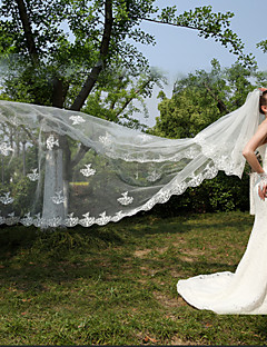 Two-tier - Lace Applique Edge Cathedral Veils ( White/Ivory