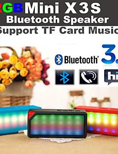 rgb ledet blinkende x3 mini trådløs bluetooth speake lyd musikk høyttaler hvit mic tf fm rgb for iphone6 samsung s6