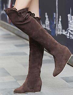 Γυναικεία παπούτσια - Μπότες - Φόρεμα - Επίπεδο Τακούνι - Μοντέρνες Μπότες - Σουέτ - Μαύρο / Καφέ / Ροζ