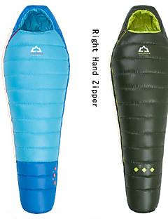 침낭 미라형 침낭 싱글 0°C~+3°C 오리다운 200g 203cm X 80cm 하이킹 / 캠핑 / 바닷가 / 낚시 / 여행 / 야외 호흡 능력 / 바람 방지 / 따뜻함 유지 / 압축 HIGHROCK®