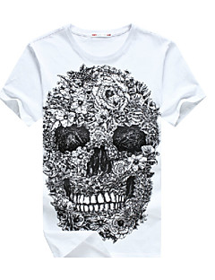 2015 Fashion Cool E-Baihui Skull Hip Hop Men T-shirt Casual O-Neck Fitness Skate Swag