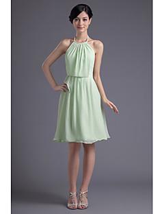 באורך  הברך שיפון שמלה לשושבינה - גזרת A קולר פלאס סייז (מידה גדולה) / פטיט עם