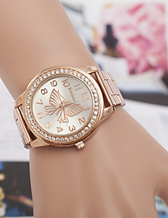 yoonheel Damen Modeuhr Simultan? Diamant Uhr Quartz Imitation Diamant Metall Band Silber Gold Rotgold Silber Golden Rotgold