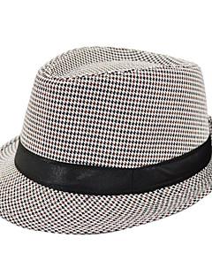 ユニセックス ポリエステル フェドーラ帽 , ヴィンテージ オールシーズン