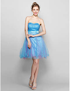 Homecoming Cocktail Party Dress - Pool A-line/Princess Knee-length