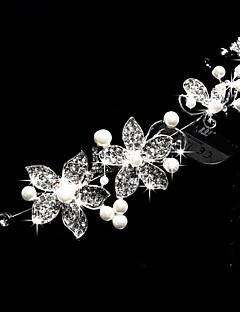 Damen Kopfschmuck Hochzeit/im Freien/Besondere Anlässe Tiara/Stirnbänder/Blumen/Head Chain Legierung/Perle/KristallHochzeit/im