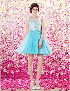 ts couture cocktail dress --line kauha lyhyt / mini pitsi / tylli