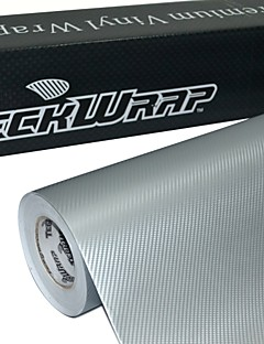 TeckWrap 3D Carbon Fiber Silver Car Wrapping Vinyl Film 1.52mx20m