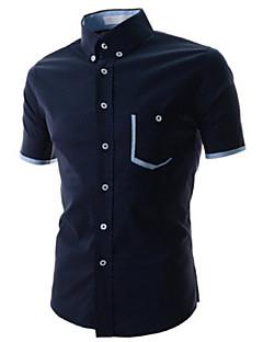 Informell Hemdkragen - Kurzarm - MEN - Freizeithemden ( Baumwoll Mischung )