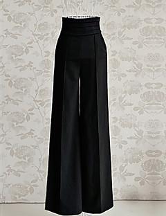 דק - מיקרו-אלסטי - רגל רחבה - מכנסי נשים(פוליאסטר)