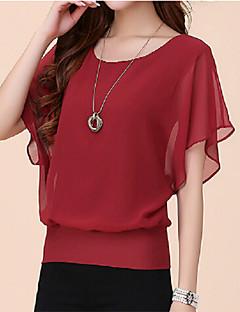 шифон с коротким рукавом женская плюс рубашка