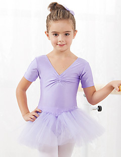 Ballet Dresses&Skirts/Tutus & Skirts/Dresses Children's Performance/Training Cotton/Tulle 1 Piece Black/Blue/Pink/Red Kids Dance Costumes