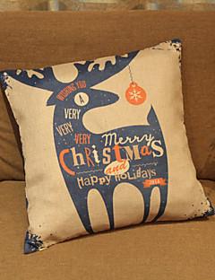Santa wapitis taie d'oreiller décoratif (17 * 17 pouces)