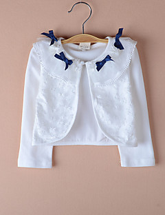 børn wraps blonder / polyester sød bowknot fest / afslappet boleroer hvid / pink bolero skuldertræk