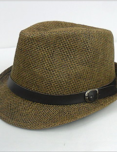 Men Casual Summer Straw Fedora Hat