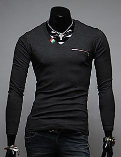 MEN - 캐쥬얼 바자형 것 - 긴소매 - 티셔츠 ( 면 )