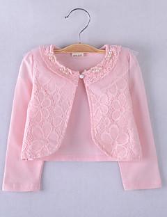 kinderen wraps lange mouw kant / polyester fashion party / casual bolero wit / roze bolero schouderophalen