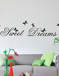 sød drøm stue indretning citater Vægoverføringsbilleder diy zooyoo2002 aftagelige pvc wall stickers boligmontering