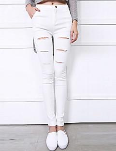 Kvinner Sexy/Bodycon/Fritid/Plusstørrelser Tettsittende Bukser Bomull Mikroelastisk