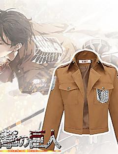 Attacco su Titano Shingeki no Kyojin Jacket Eren Jager Scouting Corps Cosplay