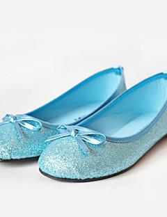 Girls' Shoes Wedding/Dress/Casual Comfort/Ballerina/Round Toe/Closed Toe Glitter Flats Blue