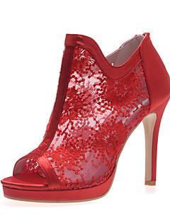 Wedding Shoes - Sandálias - Peep Toe - Preto / Vermelho / Marfim / Branco - Feminino - Casamento / Festas & Noite