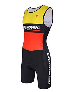 Getmoving® Tri Suit Women's / Men's Sleeveless Bike Breathable / Anatomic Design / Compression / Lightweight Materials / Back Pocket