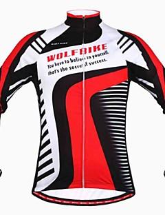 WOLFBIKE® Cycling Jacket Men's Long Sleeve Bike Thermal / Warm / Windproof / Fleece Lining / Lightweight Materials / Back PocketJacket /