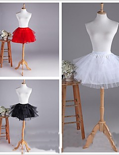 Slips Ball Gown Slip Short-Length 4 Tulle Netting White/Black/Red