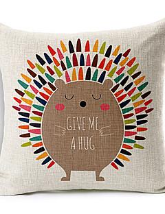 ballon coloré hérisson coloré à motifs coton / lin taie d'oreiller décoratif