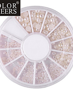 Mixed-Size Semicerchio White Pearl Nail Art Decorazioni