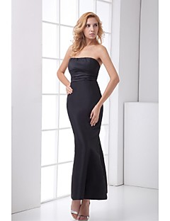 Formal Evening Dress Trumpet/Mermaid Strapless Ankle-length Satin Dress