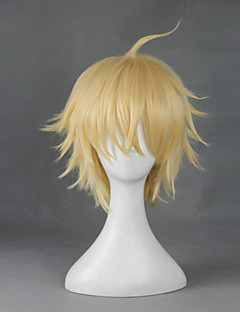 Cosplay Wigs Seraph of the End Cosplay Golden Short Anime Cosplay Wigs 30 CM Heat Resistant Fiber Male / Female