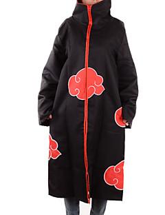קיבל השראה מ Naruto Akatsuki אנימה תחפושות קוספליי חולצות קוספליי / תחתון דפוס שחור שרוולים ארוכים גלימה