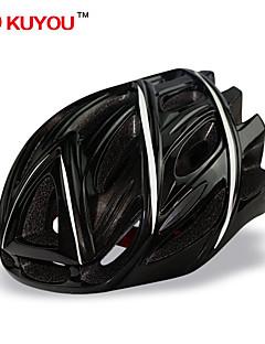 Capacete ( Branco/Preto , PC/EPS ) - Montanha/Estrada/Esportes - Unisexo 24 AberturasCiclismo/Ciclismo de Montanha/Ciclismo de