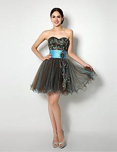 Cocktail Party Dress Ball Gown Sweetheart Short / Mini Tulle with