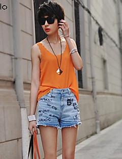 Women's Blue/Red/White/Black/Green/Orange/Yellow T-shirt Sleeveless