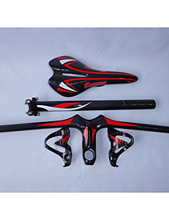 HB14+SA10+SP15+BC237 Neasty Brand Full Carbon Fiber Mtb Bike Handlebar Saddle Seatpost Cage Red Color