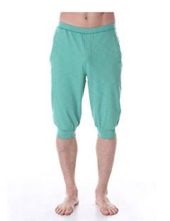 מכנסיים יוגה תחתיות / מכנסיים נמתח לארבעה כיוונים / תחושה מוחזקת / איזור דחיסה טבעי מתיחה בגדי ספורט לגברים אחריםיוגה / פילאטיס / כושר