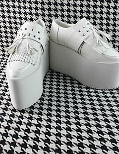Handmade White 12cm High Heel Sweet Lolita Shoes