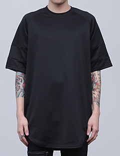Men's Print Casual T-Shirt,Others Long Sleeve-Black / White
