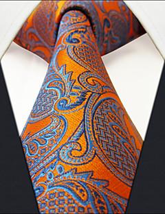 U26 shlax&vinge geometrisk orange blå mens slipsar slipsar mode bröllops silke lång